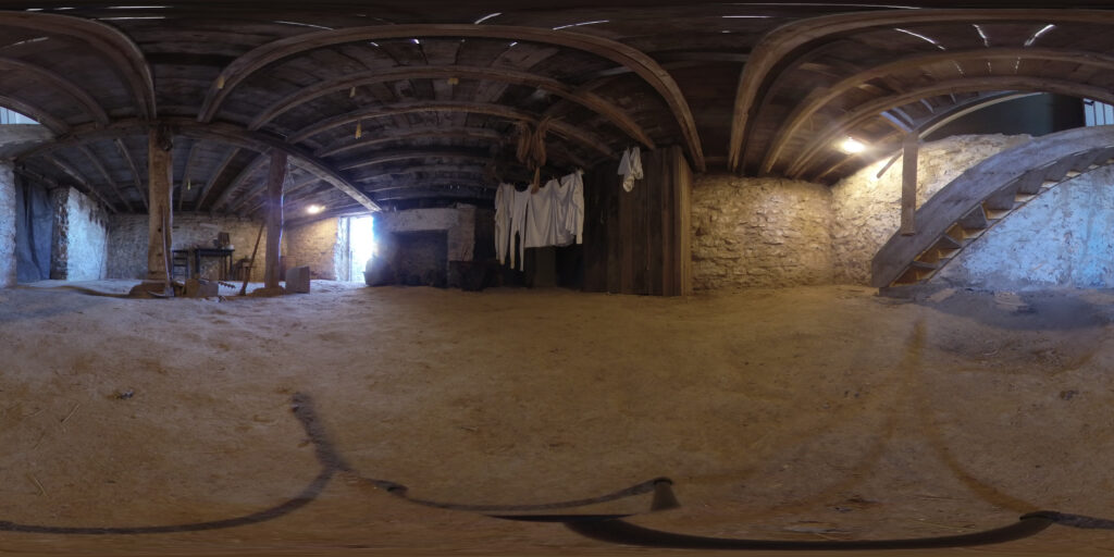 This is an image of the basement of the Hitchcock House where the runaway slaves were hidden.
